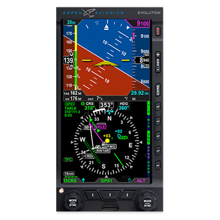 Evolution 1000 Pro MAX Primary Flight Display  NOW CERTIFIED and SHIPPING!